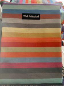 Rainbow Stripe Pillow